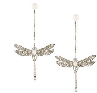 Axenoff Jewellery drop dragonfly earrings