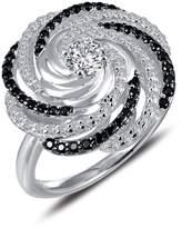 Lafonn Platinum Plated Sterling Silver Simulated Diamond Statement Ring