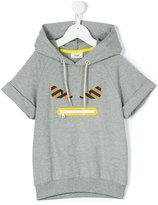 Fendi Monster hooded sweatshirt - kids - Cotton/Spandex/Elastane - 7 yrs