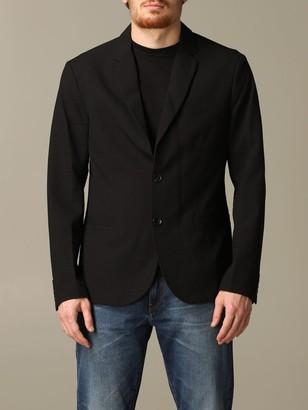 Armani Collezioni Armani Exchange Blazer Armani Exchange Single-breasted Cotton Jacket