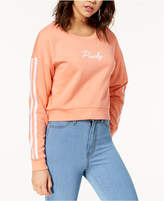 Ultra Flirt Juniors' Cropped Varsity Sweatshirt