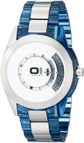 01 The One 01TheOne Men's AN08G05 Spinning Wheel Classic Analog with Enamel Bezel Watch