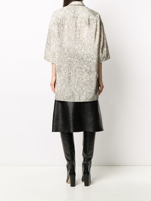 Lemaire Oversized Marble Print Shirt