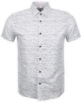 Ted Baker Short Sleeved Pazta Spot Shirt White