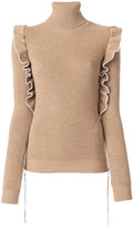 No.21 frilled detail turtleneck jumper