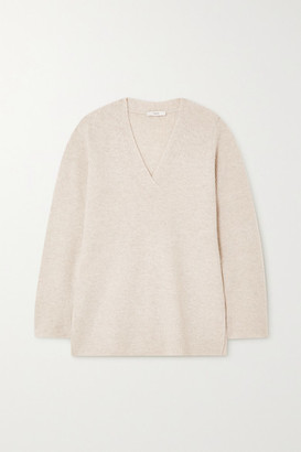 Vince Ribbed Wool And Cashmere-blend Sweater - Beige