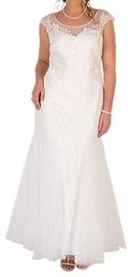 chesca Chesca Godet Tulle Wedding Dress, Ivory