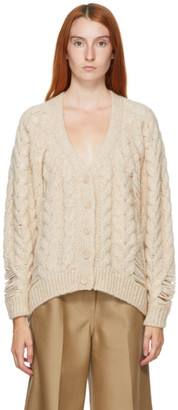 Stella McCartney Beige Cable Knit Sweater