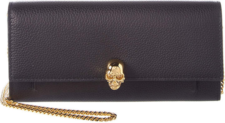 Alexander McQueen Leather Wallet With Chain