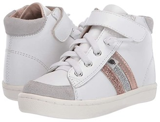 Old Soles Glambo High Top (Toddler/Little Kid) (Snow/Glam Copper/Glam Argent/Copper) Girl's Shoes