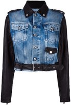 Diesel 'Denyn' jacket - women - Cotton/Calf Leather - S