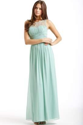 Little Mistress Sage Embellished Detail Maxi Dress