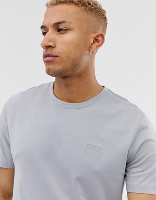 HUGO Dero embroidered chest logo t-shirt in grey
