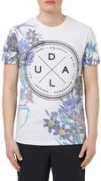 Topman Slim Fit Floral Print Graphic Crewneck T-Shirt