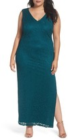 Marina Plus Size Women's Lace Drape Back Gown
