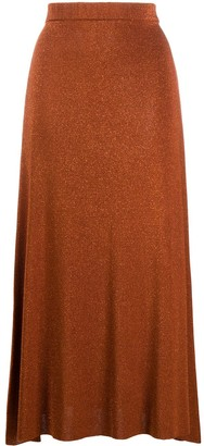 Temperley London Metallic Knitted Midi Skirt
