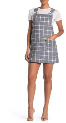 Angie Plaid Overall Pinafore Dress