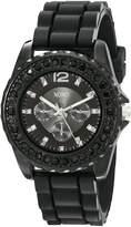 XOXO Women's XO8041 Rhinestone Accent Silicone Strap Watch