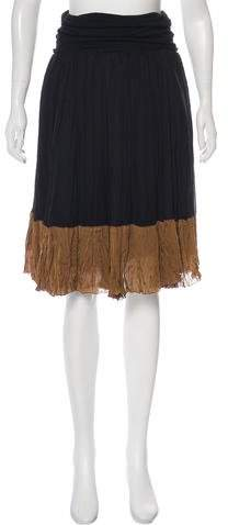 Donna Karan Crepe Knee-Length Skirt