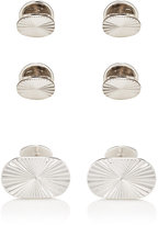 Barneys New York MEN'S STERLING SILVER CUFFLINK & STUD SET
