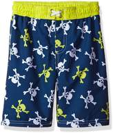 iXtreme Little Boys Pirate Skulls Swim Trunk Rashguard