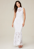 Bebe Petite Lace Maxi Dress