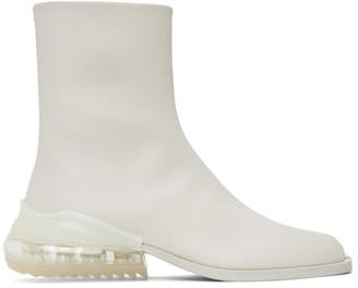 Maison Margiela White Airbag Tabi Boots