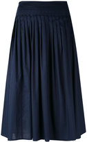 Vince gathered A-line skirt - women - Cotton - S