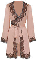 Agent Provocateur Amelea Black & Pink Pyjama Jacket