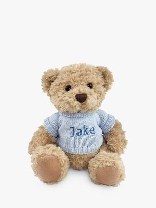 Babyblooms Personalised Bertie Bear Soft Toy, Blue