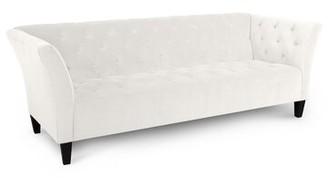 "Jonathan Louis Arielle Chesterfield 91"" Flared Arm Sofa Upholstery Color: Medium Blue"