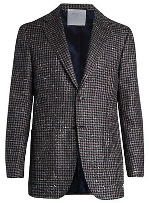 Kiton Cashmere & Silk Houndstooth Sportcoat