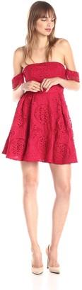 Style Stalker StyleStalker Women's Perini Off Shoulder Lace Flare Dress