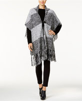 Steve Madden Marled Knit Hooded Poncho