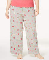 Hue Shut Up And Kiss Me Plus Size Printed Pajama Pants