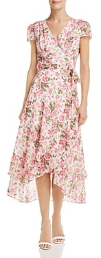 Betsey Johnson Rose Print Wrap Dress