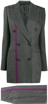Gianfranco Ferré Pre Owned 1990s Striped Detail Skirt Suit