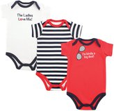 Luvable Friends Boys' Bodysuit Pack of 3