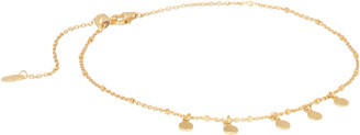 Argentovivo Mirror Gold Charm Anklet