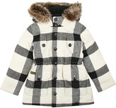 Ralph Lauren Check wool-blend parka jacket 7 - 14 years