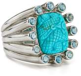 Stephen Dweck Carved Turquoise Cocktail Ring
