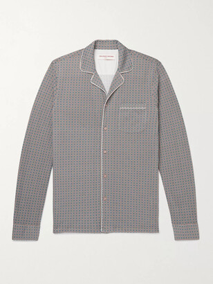 Orlebar Brown Jerome Maravilla Slim-Fit Camp-Collar Piped Cotton-Jacquard Shirt