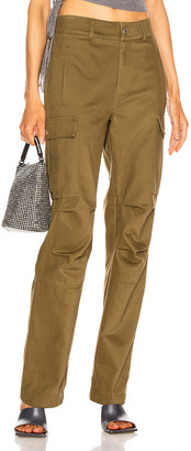 Alexander Wang Twill Cargo Pant in Olive | FWRD