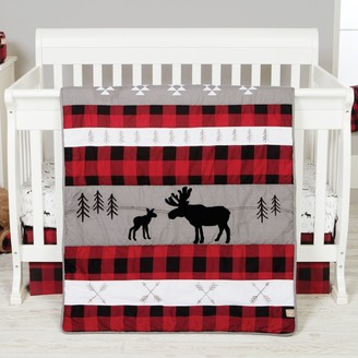 Trend Lab Lumberjack Moose 6 Piece Crib Bedding Set