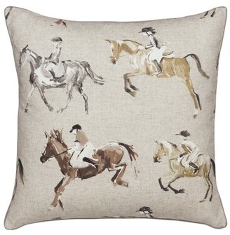 Jockey Eastern Accents Colt Horse Cotton Throw Pillow Eastern Accents