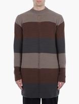 Rick Owens Brown Striped Wool Sweater