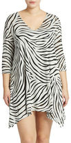 J Valdi Plus Zebra-Pattern Coverup