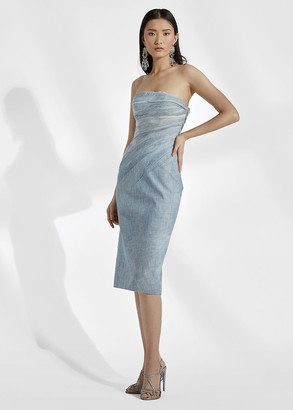 Ralph Lauren Milez Chambray Cocktail Dress