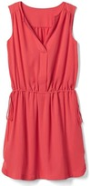 Gap Sleeveless tie-waist shirtdress