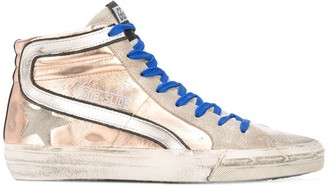 Golden Goose Metallic Lace-Up Sneakers